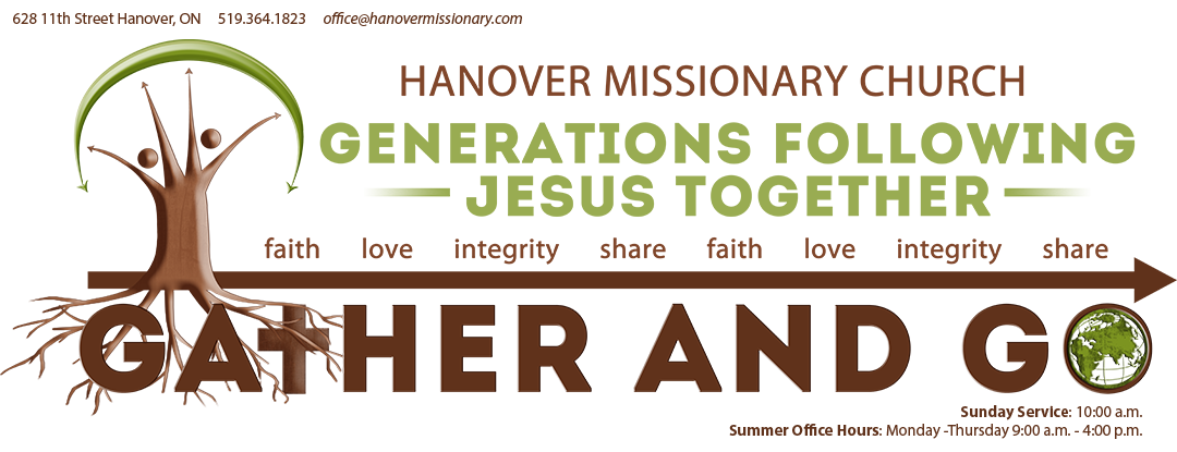 hanover missionary church gather and go logo